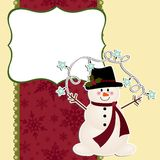 Cute christmas postcard template Royalty Free Stock Image