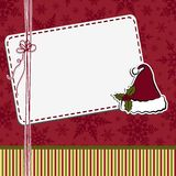 Cute christmas postcard template Royalty Free Stock Images