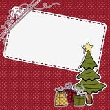 Cute christmas postcard template Royalty Free Stock Photography