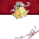 Cute christmas postcard template Royalty Free Stock Photo