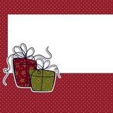 Cute christmas postcard template Stock Image