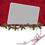 Cute christmas postcard template Stock Photo
