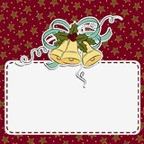 Cute christmas postcard template Stock Images