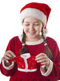 Cute Christmas present Stock Images