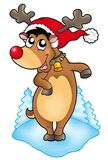 Cute Christmas reindeer Stock Images