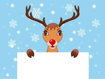 Cute Christmas Reindeer Stock Photo