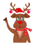 Cute Christmas reindeer Royalty Free Stock Photo