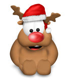 Cute Christmas Reindeer Royalty Free Stock Photography