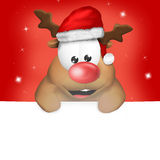 Cute Christmas Reindeer Stock Photos