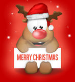 Cute Christmas Reindeer Stock Images