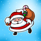 Cute Christmas Santa Claus. Cute and friendly Santa Claus ready with Christmas gifts Royalty Free Stock Photography
