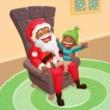 Cute christmas scene Royalty Free Stock Image
