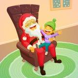 Cute christmas scene Stock Photo