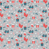 Cute Christmas seamless pattern. Christmas and New Year`s decora Stock Photography