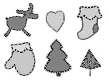 Cute Christmas stickers set Royalty Free Stock Photo