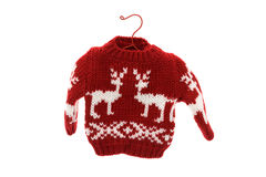 Cute Christmas sweater. Isolated on white background, Merry Christmas stock image