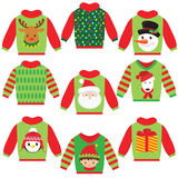 Cute christmas sweater vector illustration Royalty Free Stock Images