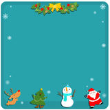 Cute Christmas symbol empty board  Stock Photography