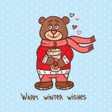 Cute christmas teddy bear Royalty Free Stock Photography