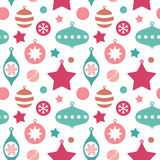 Cute christmas toys seamless pattern Stock Image