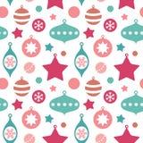 Cute christmas toys seamless pattern Stock Image