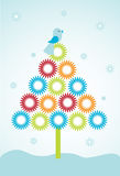 Cute christmas tree Stock Photo