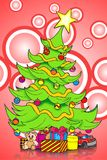 Cute Christmas tree Royalty Free Stock Photos