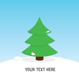 Cute christmas tree card Stock Images