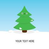 Cute christmas tree card Royalty Free Stock Photo
