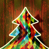 Cute Christmas Tree design vintage background Royalty Free Stock Photos