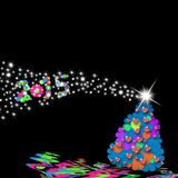 Cute Christmas tree  2015 Stock Image