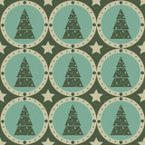 Cute christmas tree pattern Royalty Free Stock Image