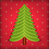 Cute Christmas tree vector Stock Photography