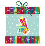 Cute gift box vector Royalty Free Stock Image