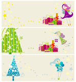 Cute Christmas web banners Royalty Free Stock Photos