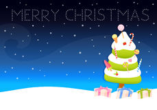 Cute Christmas wish card Royalty Free Stock Images