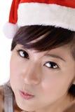 Cute Christmas woman Stock Image
