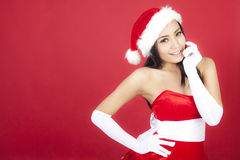 Cute christmas woman Stock Photos