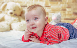 Cute chubby little baby with a happy smile Stock Photography
