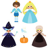 Cute Cinderella set Royalty Free Stock Photography