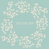 Cute circle frame with flowers and leaves for your designs Stock Image