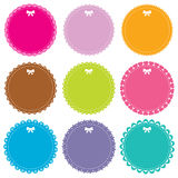 Cute circle frames set Royalty Free Stock Photos