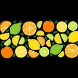 Cute Citrus Delight Fruits Lemon, Lime and Orange background in vivid tasty colors. Cute Fruits Lemon, Lime and Orange background in vivid tasty colors, can be royalty free illustration