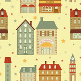 Cute city pattern Stock Photography