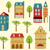 Cute city  pattern Royalty Free Stock Photography