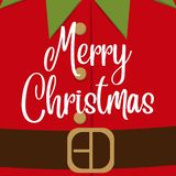 Cute Cjristmas card with elf costume vector illustration