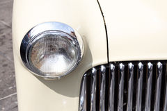 Cute classic car headlights Stock Image