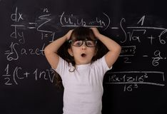 Clever kid in school. Back to school. Smart kid. Education concept. royalty free stock photos