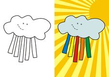 Cute cloud Royalty Free Stock Images