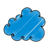Cute cloud drawing icon Stock Photo